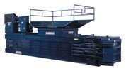 Horizontal closed-end baler