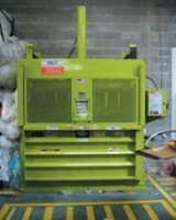 Vertical balers and compactors