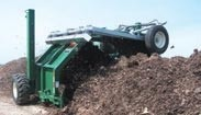 Self-propelled compost turner
