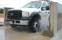 Automated wheel wash
