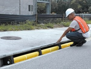Protect curb inlets from runoff