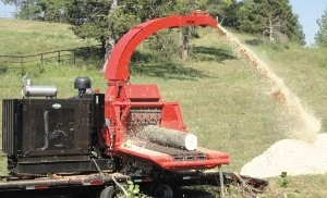 22-inch capacity chipper