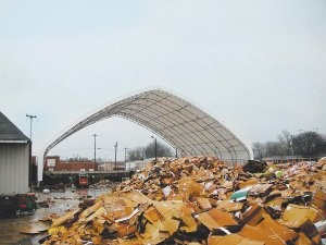 Fabric structures ideal for waste and recycling
