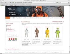Interactive tool aids protective apparel selection