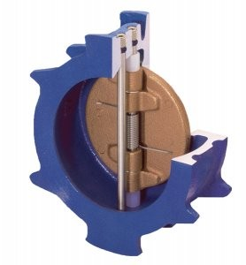 Check valve with compact wafer design