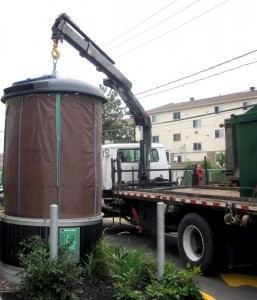 Semi-Underground, Deep Collection System for waste and recyclables