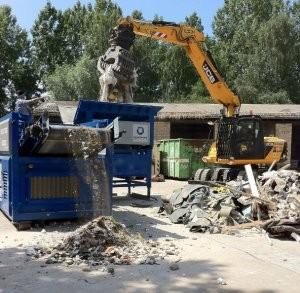 Spiral shaft technology designed for C&D waste materials separation
