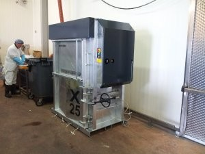 Vertical balers offered in galvanized version with food-grade oil