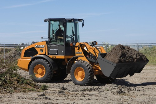 Tier 3 engine repower on compact wheel loaders for Avis e case construction