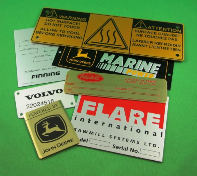 Customized Metal Nameplates are made from durable metal material.