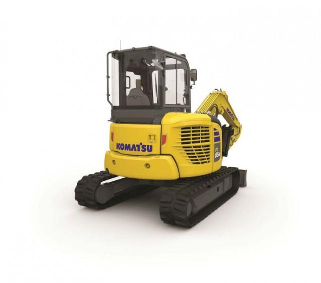 The new PC55MR EPA Tier 4 Final compact hydraulic excavator.