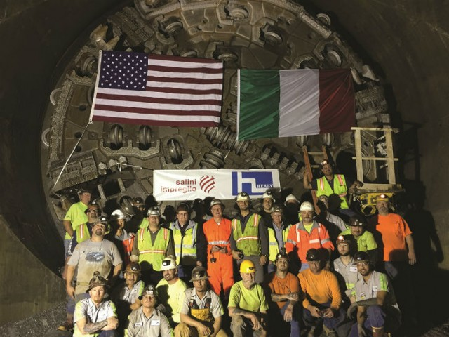 On Dec. 10, 2014, with centimetre accuracy, the Herrenknecht Multi-mode TBM reached its target at the bottom of Lake Mead.