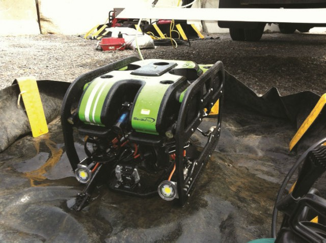 ROV post-disinfection prior to entering the pipeline.