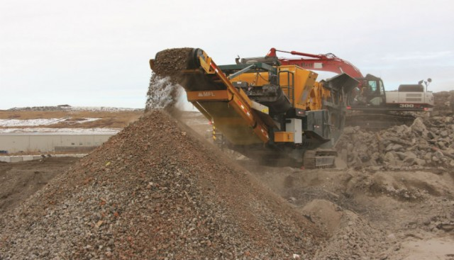 Creating aggregate from C&D waste in Edmonton