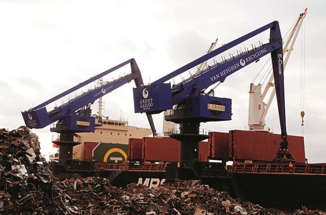 E-Cranes make Galloo Ghent the fastest scrap terminal in the world