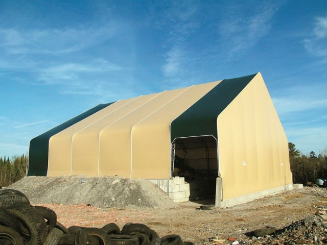 Fabric-covered buildings rise to the challenge for M&M Disposal