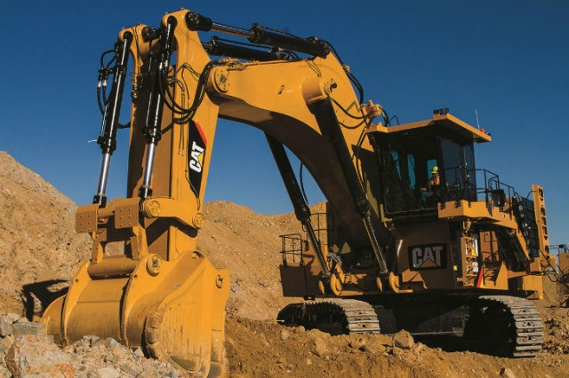 Hydraulic mining shovel designed for simple, reliable and safe operation