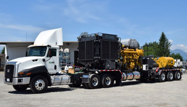 Single Source Solution: Caterpillar Supplies Propell Oilfield Equipment with Cat Engine with Dynamic Gas Blending, Cat Transmission, Cat Pressure Pump and a Cat Vocational Truck for Landmark Well Stimulation Trailer