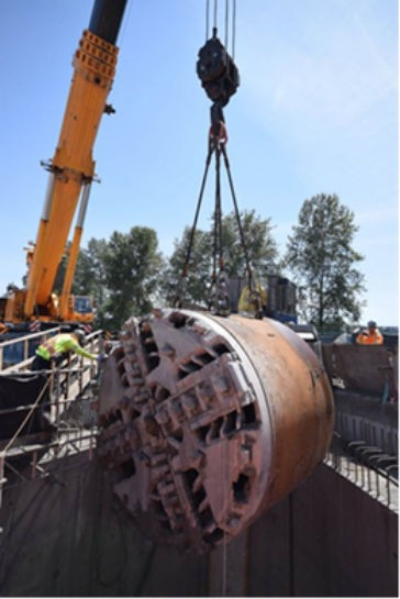 Tunnelling Complete In Fraser River for Port Mann Water Supply Main
