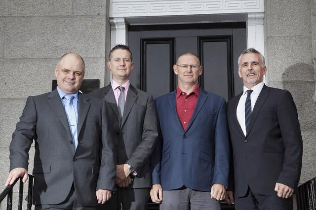 (L-R) Calum MacDonald (Well Engineering & Operations Director), John Anderson (Commercial Director Wells), Al Brockie (Head of Well Management) & Ian Mills (Managing Director)