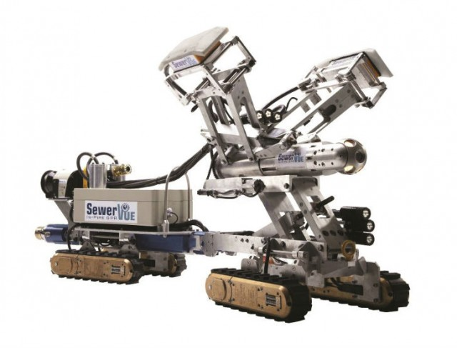 The SewerVUE Surveyor is the first commercially-available inspection robot to use CCTV, LIDAR and PPR to inspect underground pipes.