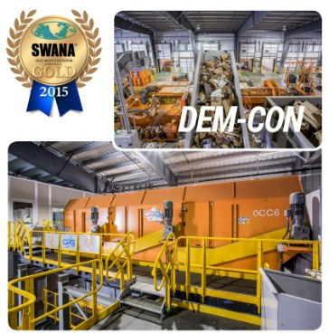 Dem-Con MRF wins Gold at WASTECON 2015