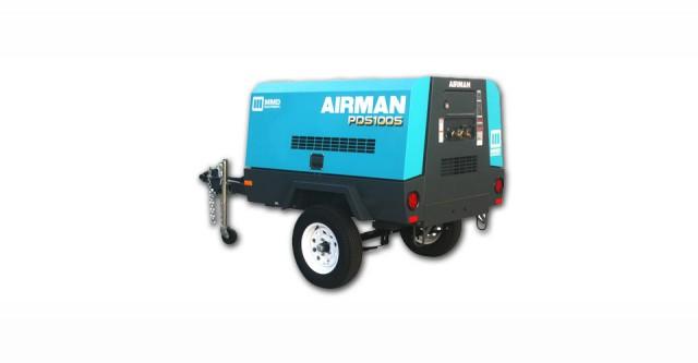 Airman Pds100s 6b4 Portable Compressor Oil Amp Gas