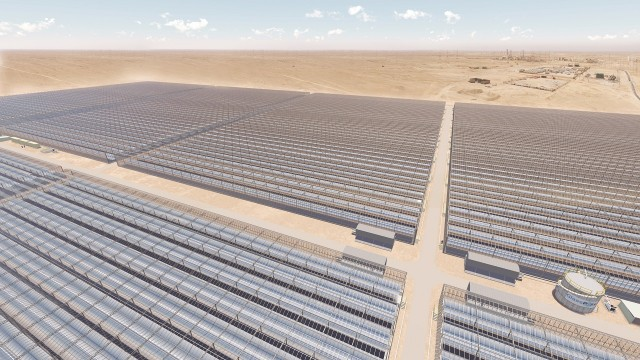 The 1,021-megawatt facility will deliver the largest peak thermal output of any solar plant in the world, states GlassPoint Solar, based in California.