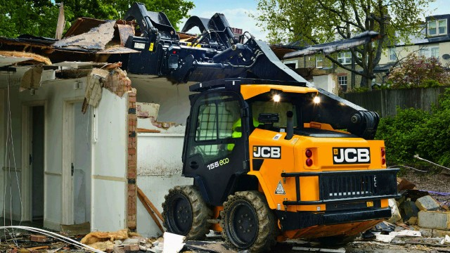 Demolition package is available on any new JCB skid steer or compact track loader model.