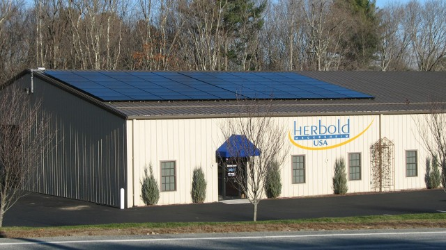 Rooftop solar energy system at Herbold USA in Rhode Island facility.