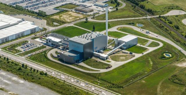 Aerial View of Durham York Energy Centre.