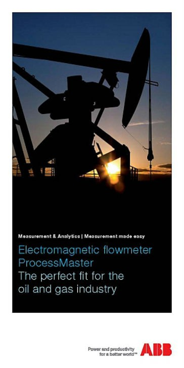 ABB leaflet names ProcessMaster magmeters  as perfect fit for oil and gas industry applications