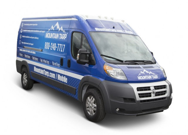 Mountain Tarp uses Ram ProMaster 2500 cargo vans for Mobile Service Program.