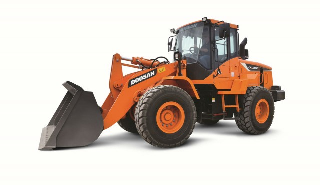 The DL220-5 wheel loader has more traction when digging, grading or loading trucks.