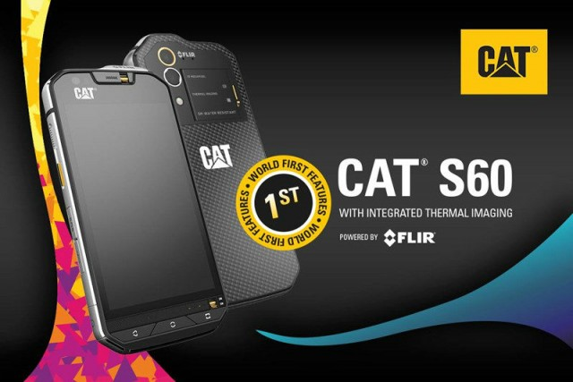 The Cat S60 smartphone with an integrated thermal camera will be unveiled at Mobile World Congress, Feb 22nd – 28th.