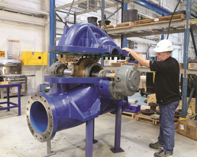 Industrial pumps can be used for a much longer useful life if they are regularly maintained and refurbished.