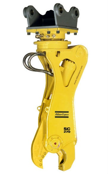 Atlas Copco scrap cutter SC 270 is part of the Atlas Copco silent demolition tools line.