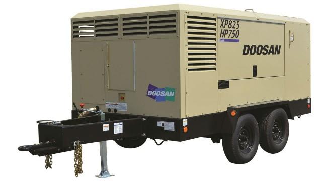 XP825/HP750 dual pressure, dual flow air compressor.