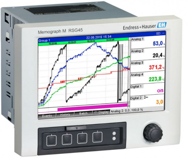 The Memograph M RSG45 Data Manager saves, visualizes, analyzes and communicates.
