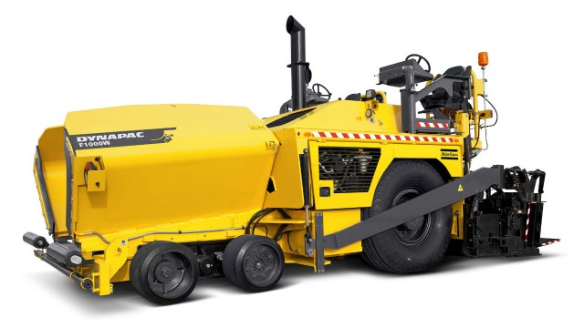 Atlas Copco's Dynapac F1000 pavers feature exclusive technology that makes asphalt paving efficient and comfortable for the operator, such as ergonomically designed controls and Dynapac's feed-control system.