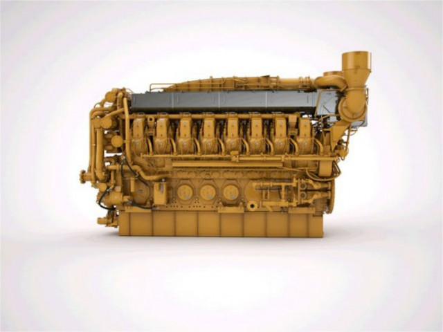 The Cat G3616 Gas Compression Engine.