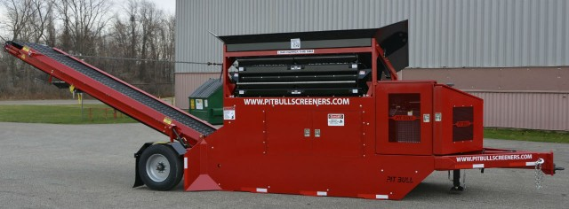 The new Pitbull 2300 Propane Screening Plant features most of the same qualities as the proven Pitbull 2300. The only difference is how it's powered. The 1.6-liter Zenith 48-horsepower engine is low-emission and provides an alternative to diesel products
