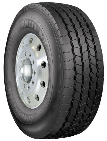 The Roadmaster RM332 WB has a specially designed rib-type tread pattern to withstand the rigors of heavy haul driving, on- or off-road, while also providing long tread life and even wear.