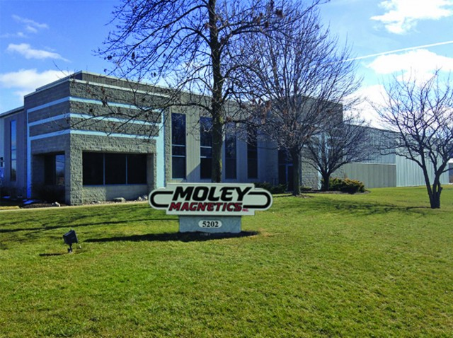 Moley Magnetics, Inc. all divisions and offices began operating Monday, May 9, 2016 from their new corporate headquarter.