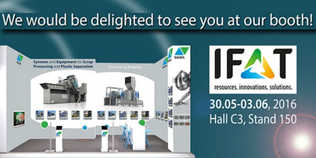 SICON to present latest products and services at IFAT 2016 in Munich