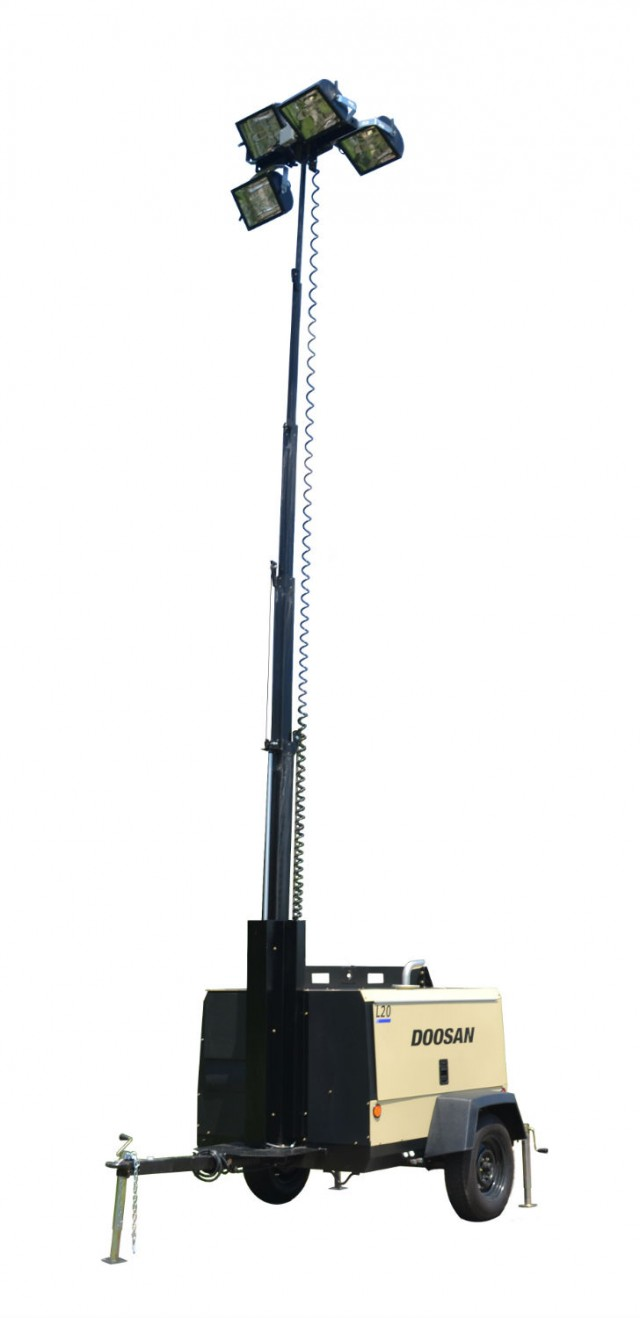 Doosan offers L20 light tower and generator