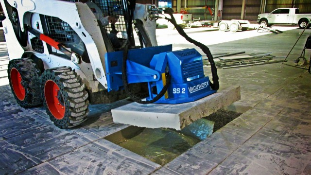The Vacuworx SS 2 Vacuum Lifting System is compatible with any skid steer on the market.