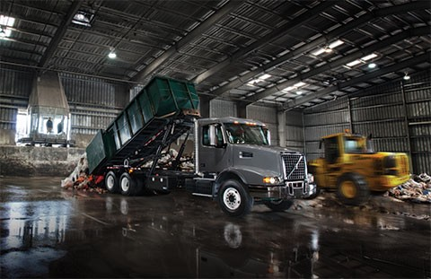 Volvo Trucks North America will feature its wide range of refuse-focused truck models – including its versatile Volvo VHD model (above) – in booth no. 2267 at WasteExpo 2016, which runs June 7-9 at the Las Vegas Convention Center.