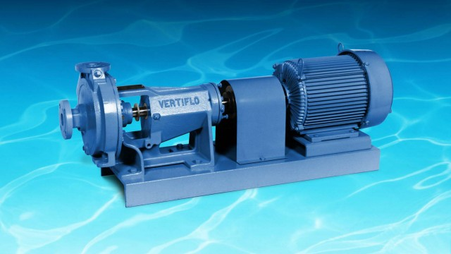 Model 1400LF industrial horizontal, base-mounted, low flow end suction pumps, also available as vertical wet pit pump.