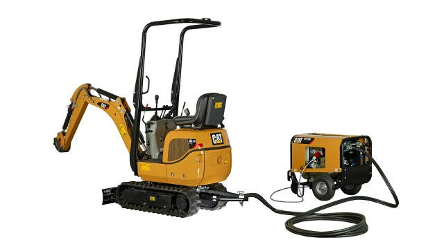 Caterpillar 300.9D VPS mini hydraulic excavator.